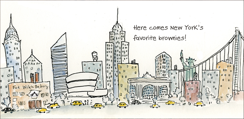 Here comes the New York's favorite brownies!